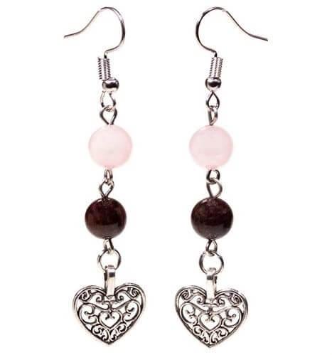 boucles-d-oreilles-grenat-quartz-avec-coeur