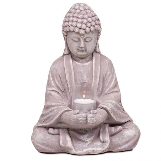 bouddha-en-ciment-avec-un-verre