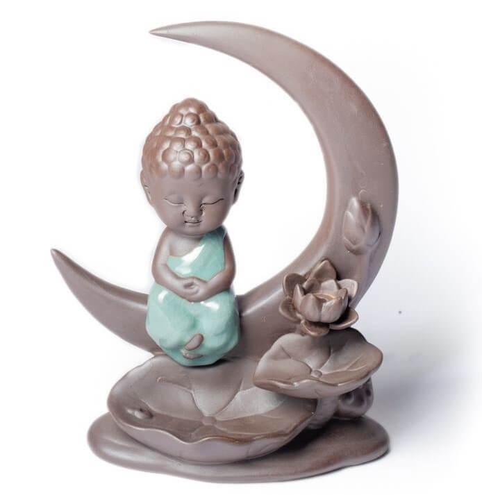 brule-encens-a-refoulement-bouddha-sur-la-lune