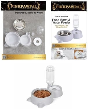 pinkpawpal-food-bowl-automatic-water-feeder-for-longhair-dogs-cat-no-wet